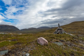 Röse längs Nordkalottleden