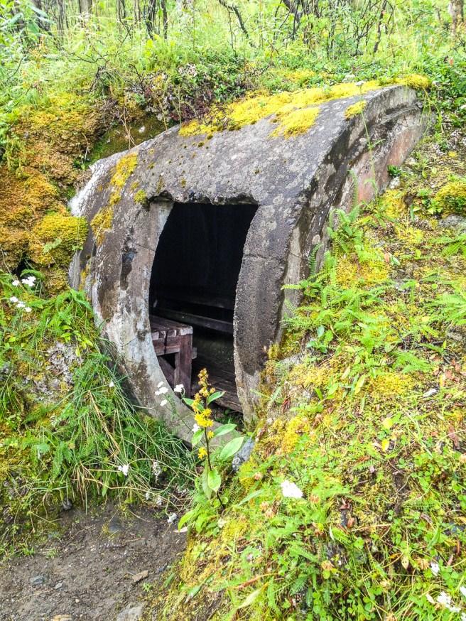 Skyddsrum på väg till Björkliden.
