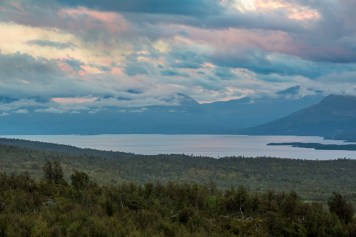 Utsikt över Torneträsk från Lappjordhytta.