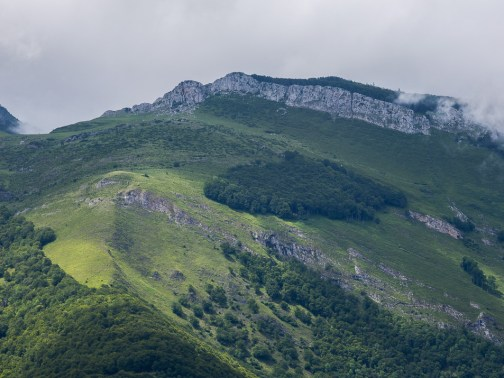 Klippvägg sedd från Mont de Gez