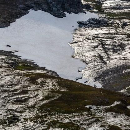 Snöfält på Máhttoajvve