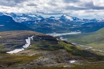 Åt sydväst mot Norge. Stálojåhkå.