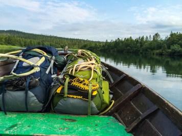 Ryggsäckarna i Båtbjörns båt