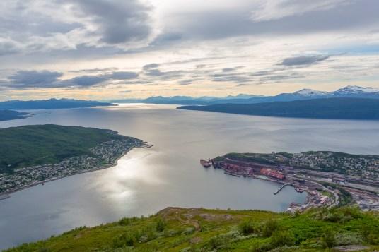 Hamnen i Narvik och Ofotsfjorden