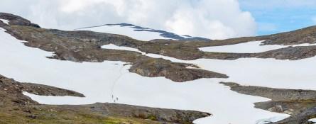 snöfält upp mot låktatjåkko