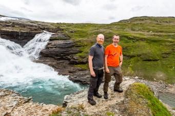 Stáddájåhkås vattenfall
