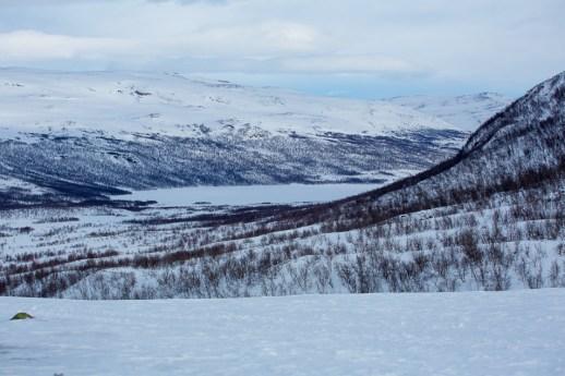 Utsikt mot Abiskojaure