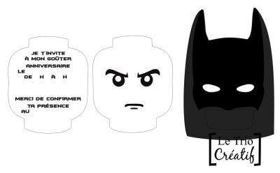 carte d invitation lego batman