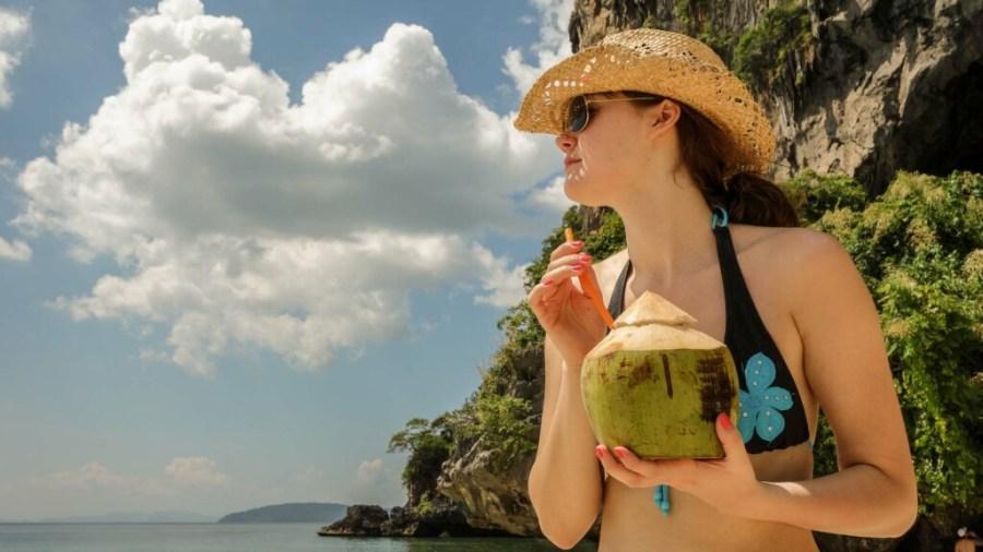 Leckere Kokosnüsse