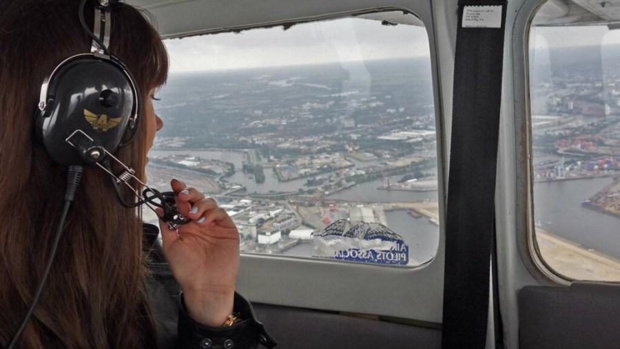 Mit der Cessna über Hamburg