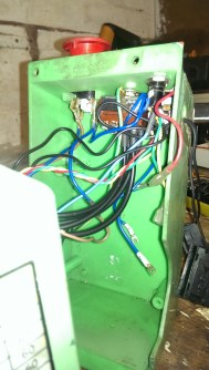 Lathe control box