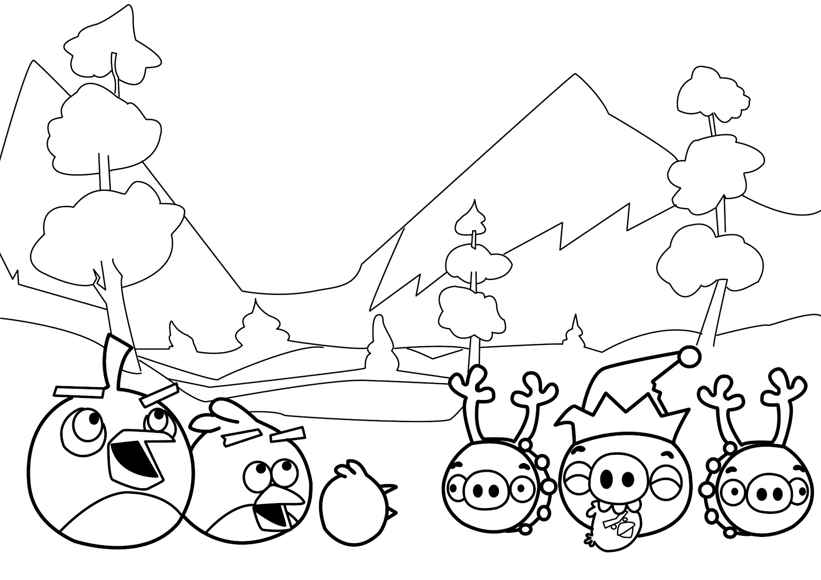 winter new angry birds coloring pages coloring page for kids and