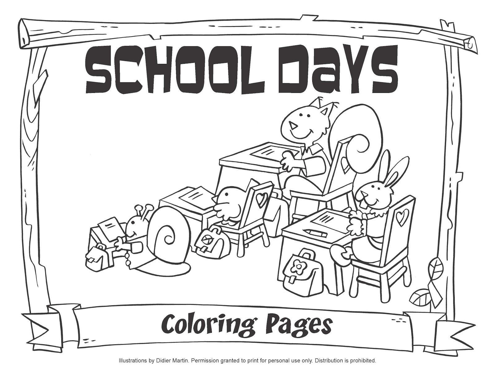 School House Coloring Pages Coloring For Kids School Day