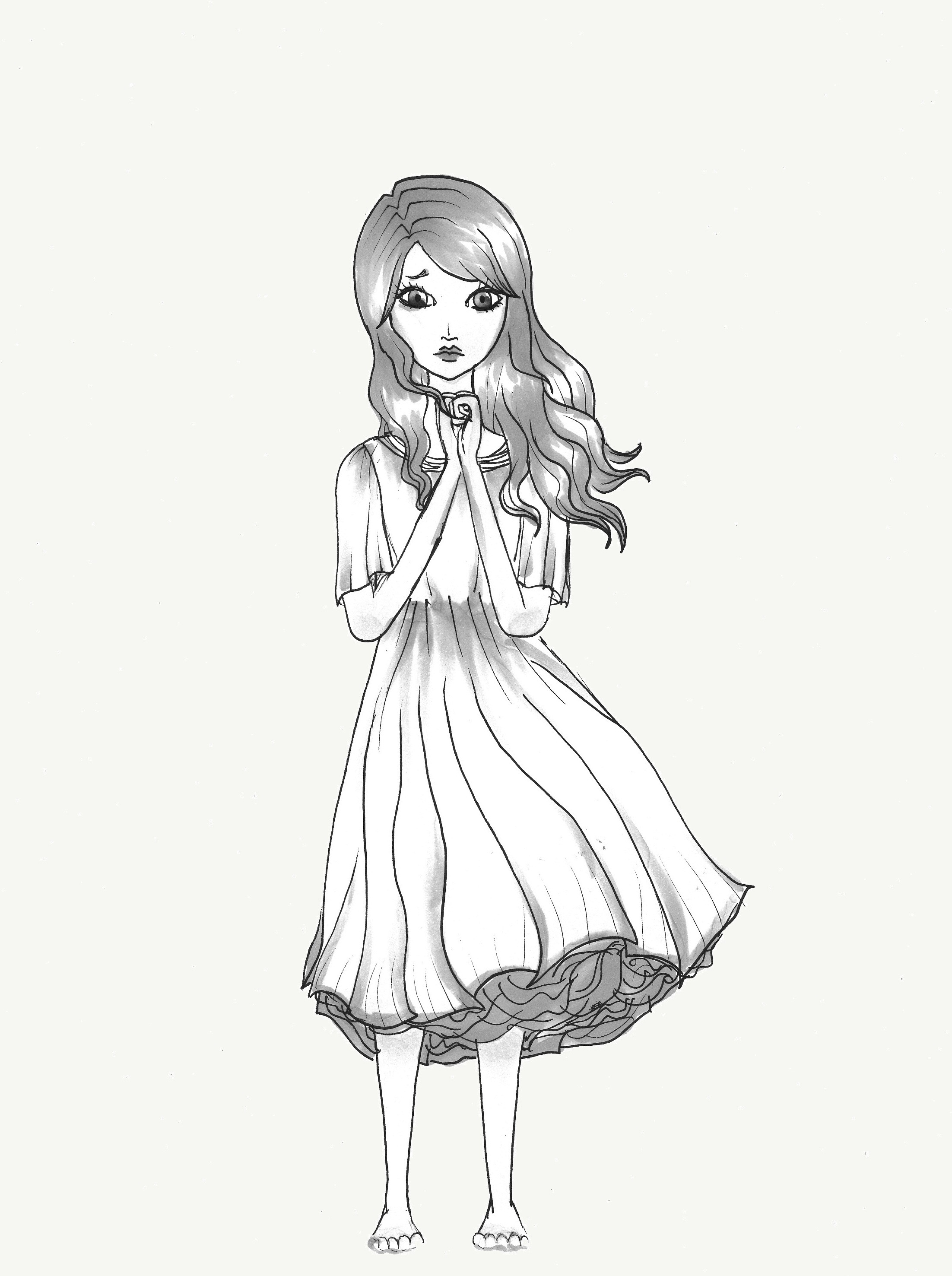 Beauty Girl Hair Coloring Pages
