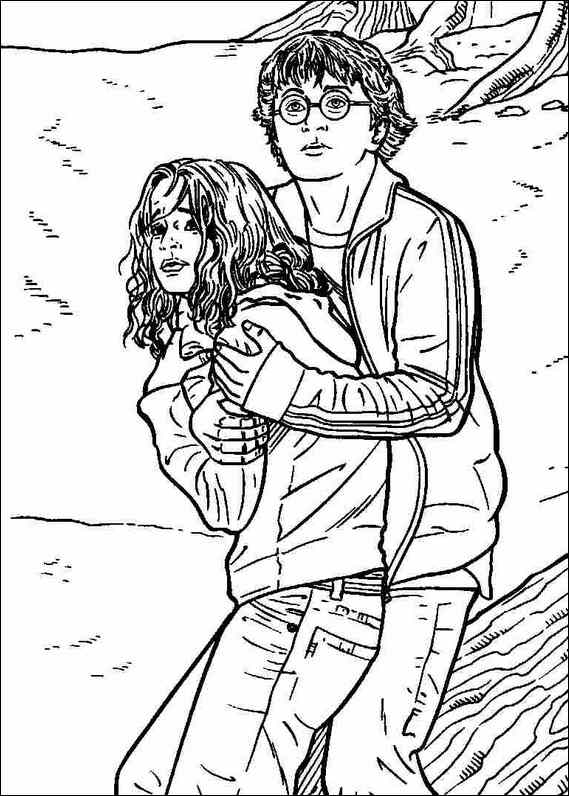 Protect Harry Potter Coloring Pages Color Online Free