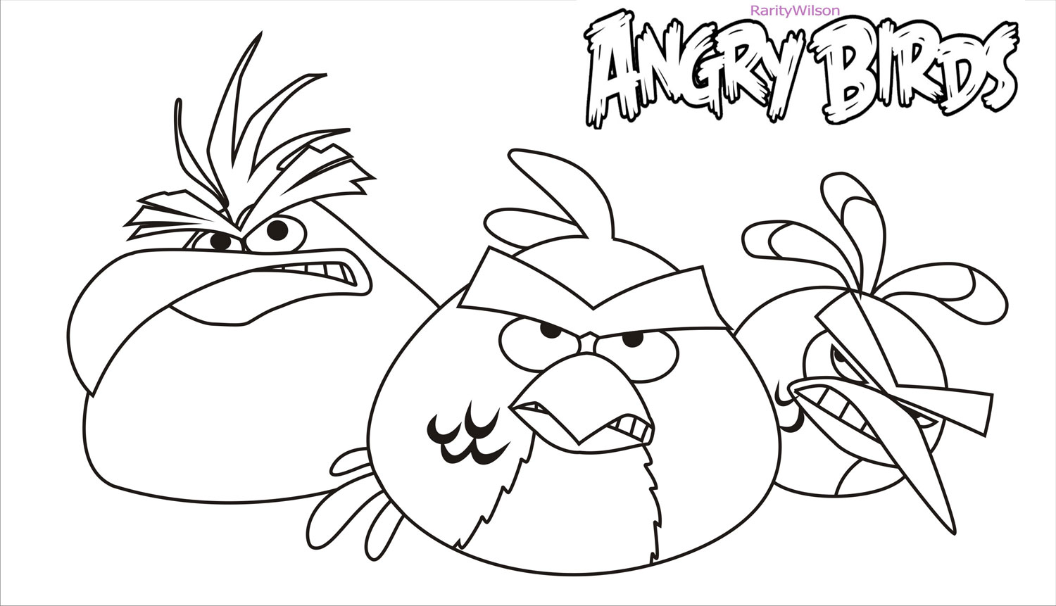 Serious Angry Birds Coloring Pages Free Printable Coloring Pages For Kids Colouring Pages