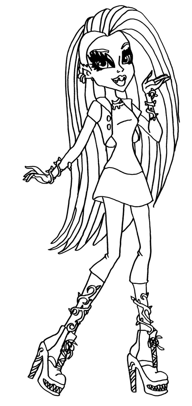 Monster High Coloring Pages Coloring Pages For Girls