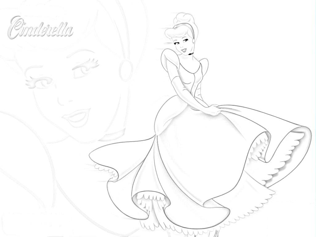 Free Printable Cinderella Coloring Pages For Kids | 768x1024