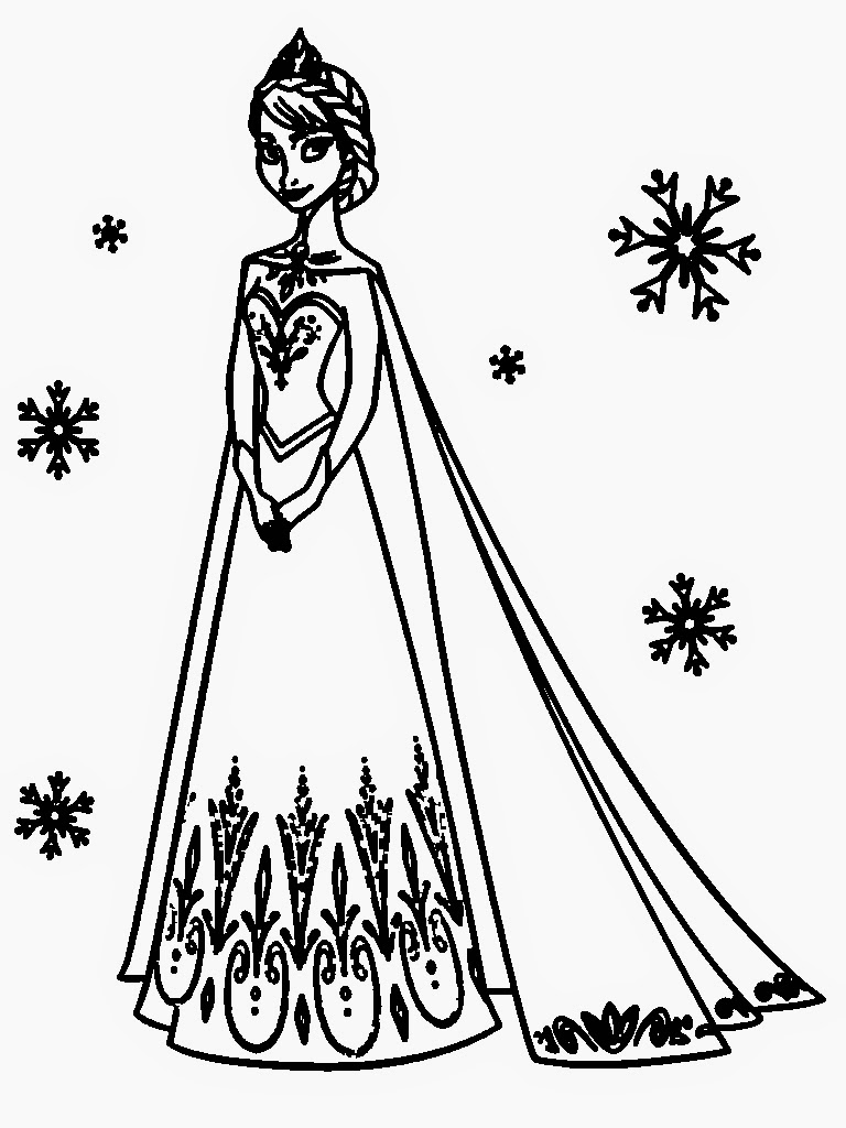 Frozen Anna And Elsa Coloring Page - Free Coloring Pages Online | 1024x768