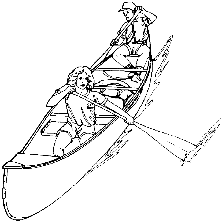 Kayak Coloring Page Coloring Pages To Print Color