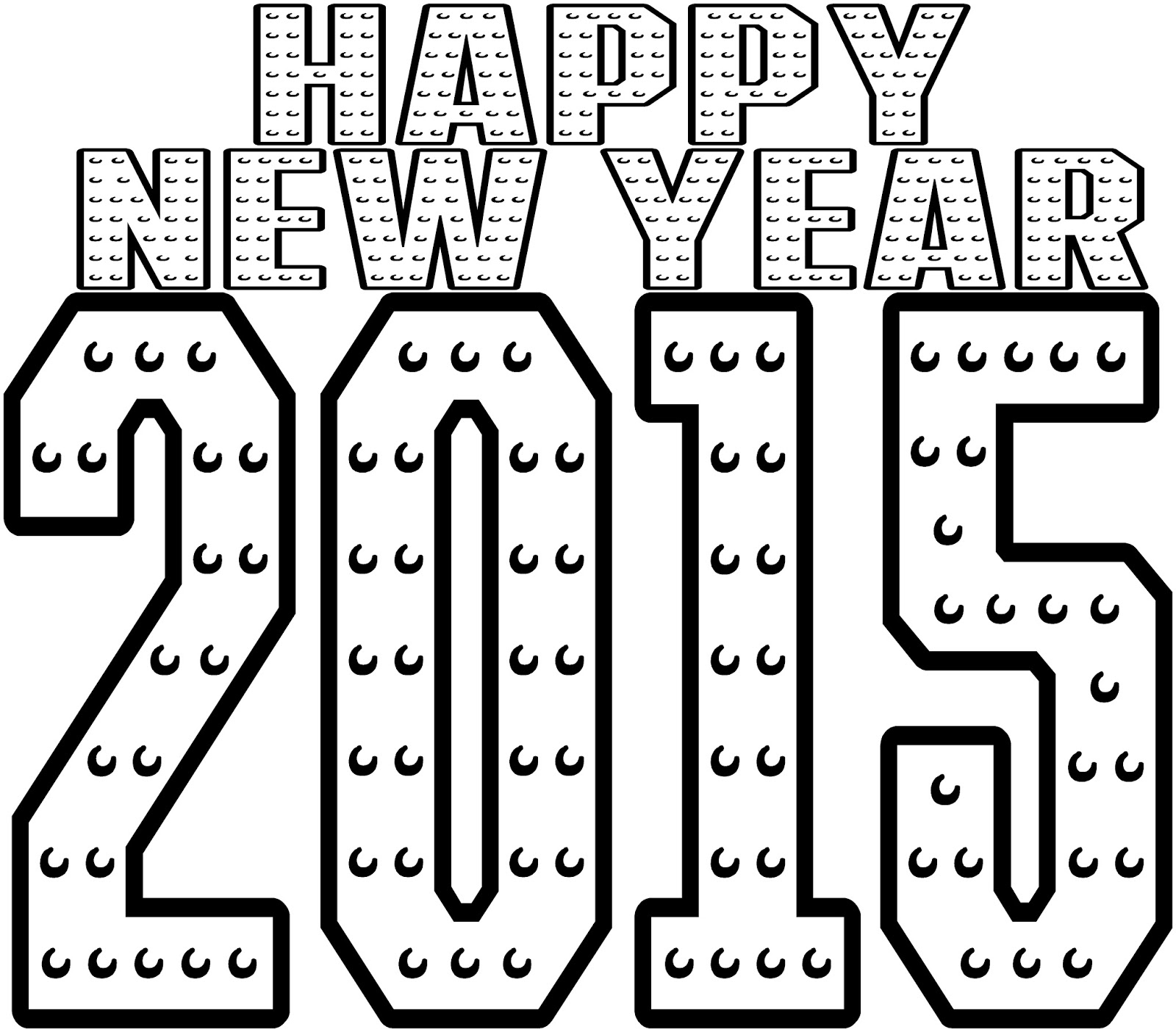 Happy New Year Preschool Coloring Pages