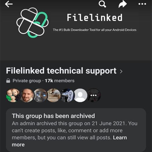 Filelinked error occurred