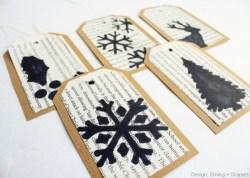 Originální vánoční jmenovky - zdroj: Designdininganddiapers