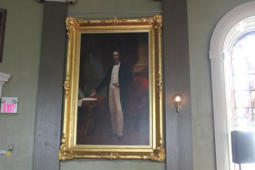The largest painted portrait of Sir John A McDonald