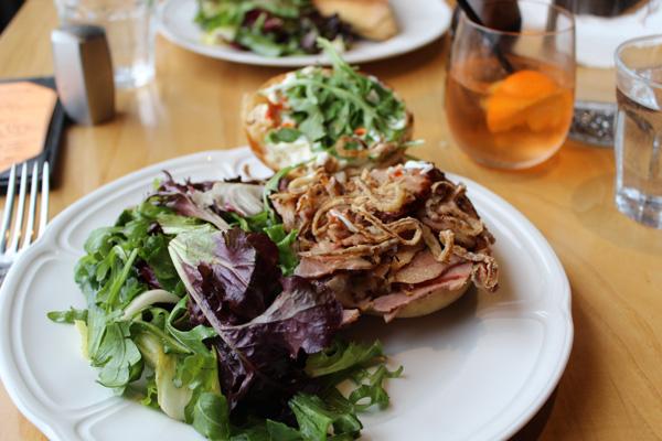Porchetta sandwich from Olivea