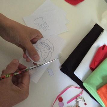 cortamos los dibujos para hacer lo patrones