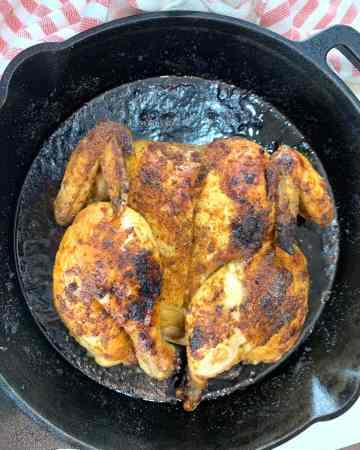roast butterflied chicken