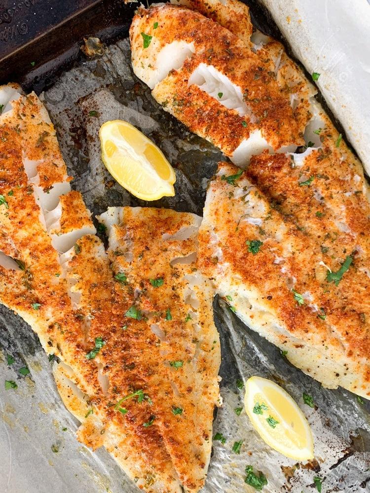 fresh cod fish fillets