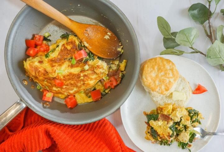 Collard Greens Omelette