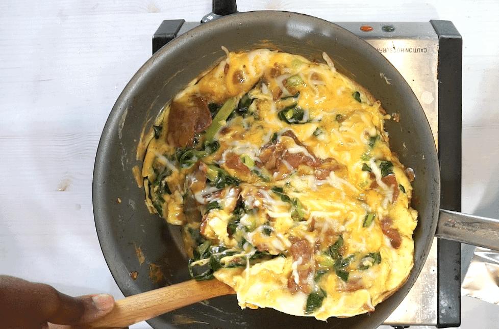 collard green omelette