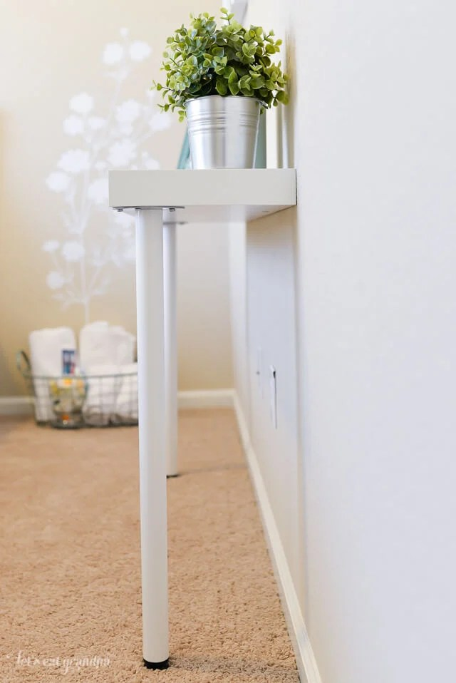 Simple Ikea Hack Narrow Console Table Hey Let S Make Stuff