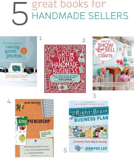 Five great books for handmade sellers -- perfect for the holidays!