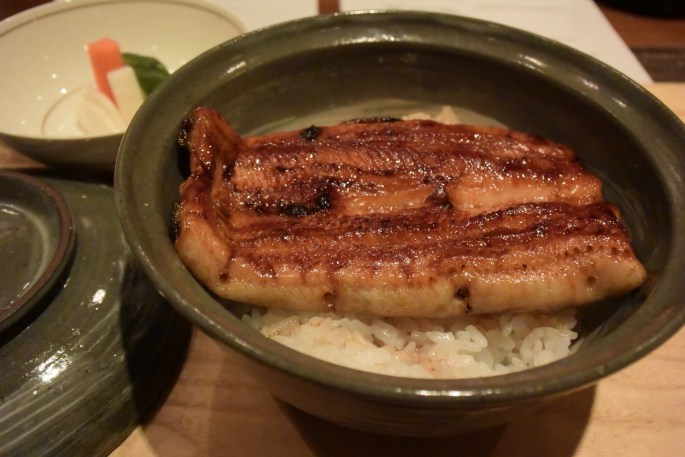 Eel bowl- grilled eel over rice with special sauce. Unbelievably tasty.