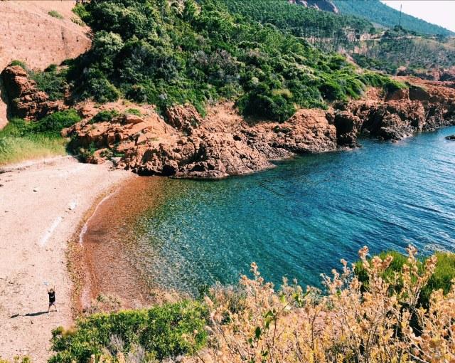 Calanque du Petit Canereit, Antheor, Estérel Cote d'Azur. One of the best beaches near Saint-Raphael