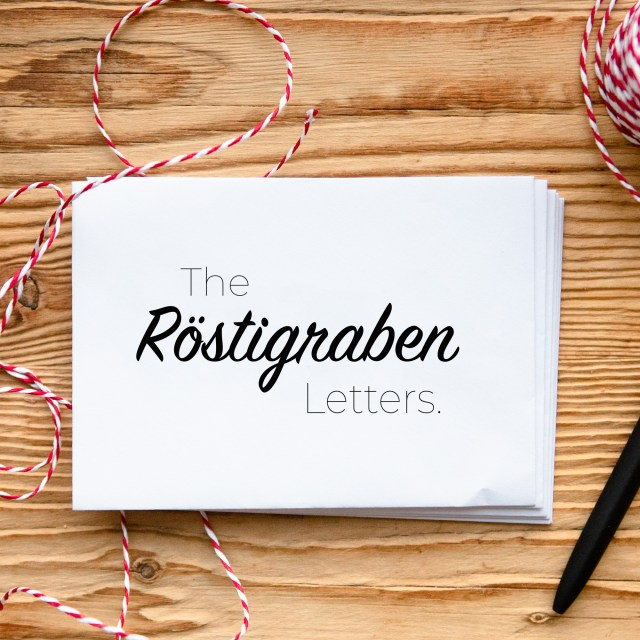 Röstigraben letters