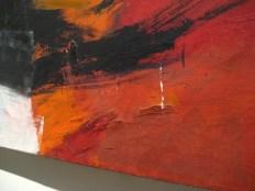 detail of Orange and Black Wall by Franz Kline
