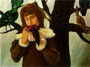 "Magritte's ""Girl Eating a Bird (Pleasure)"""