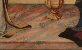 "detail from Simone Martini's ""Annunciation"""