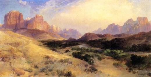 "Thomas Moran's ""Zion Valley, South Utah"""