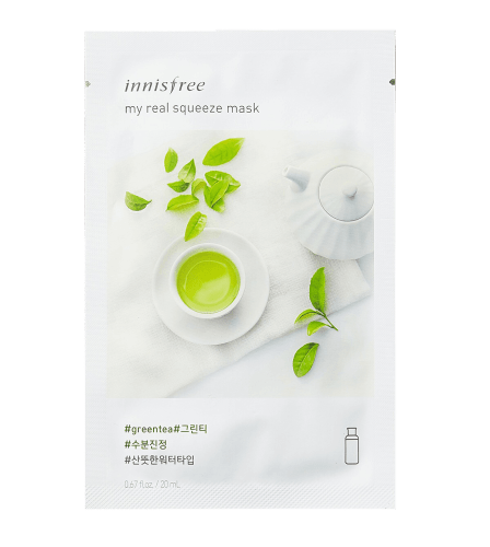 Innisfree My Real Squeeze Sheet Mask Green Tea