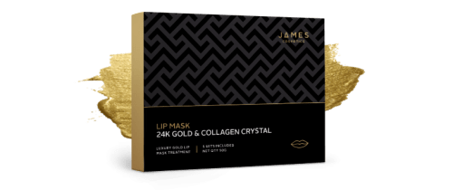 James Cosmetics 24k Gold lip mask