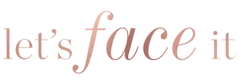 Lets Face It logo on white background