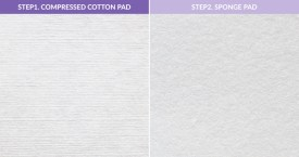 Klairs 2 in 1 Cotton Pad. Compressed pad and Sponge Pad Details