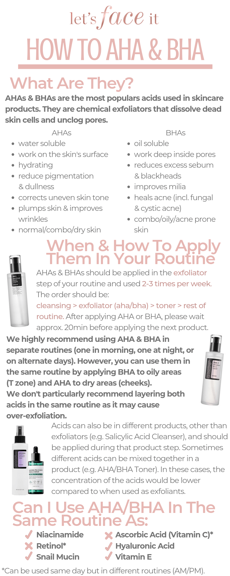 How To Use AHA and BHA In Your Skincare Routine