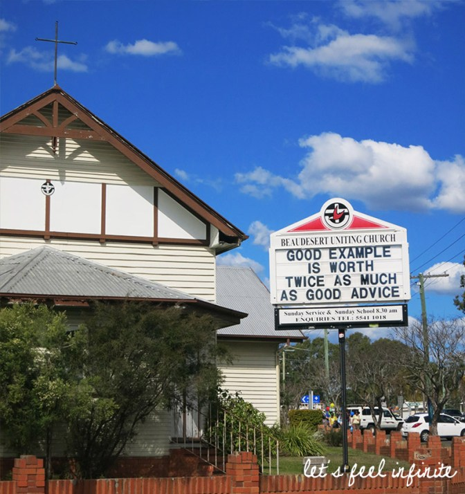 Beaudesert, Church - Good example is worth twice as much as good advice