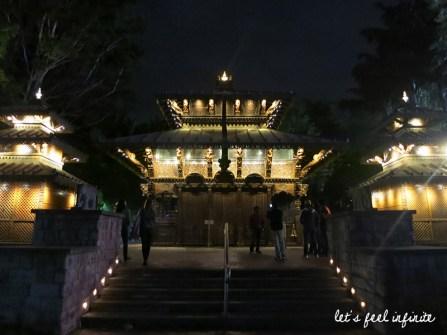 Brisbane - Southbank by night, Nepal Peace Pagoda